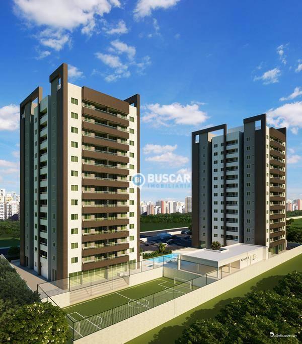 Apartamento com 2 dormitórios à venda, 66 m² por R$ 318.073 - Brasília - Feira de Santana/BA