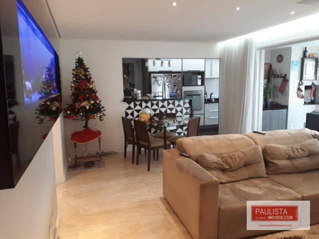 Apartamento com 3 dormitórios com varanda gourmet - Chácara Santo Antônio-São Paulo/SP