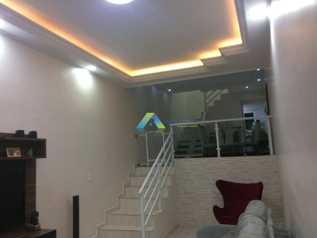 Sobrado com 3 dormitórios à venda, 120 m² por R$ 405.000 - Jardim Europa - Santo André/SP
