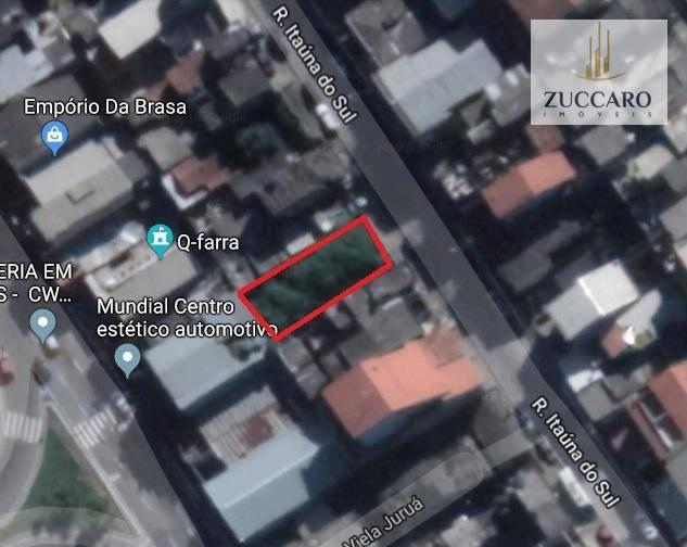 Terreno à venda em Vila Rio De Janeiro, Guarulhos - SP