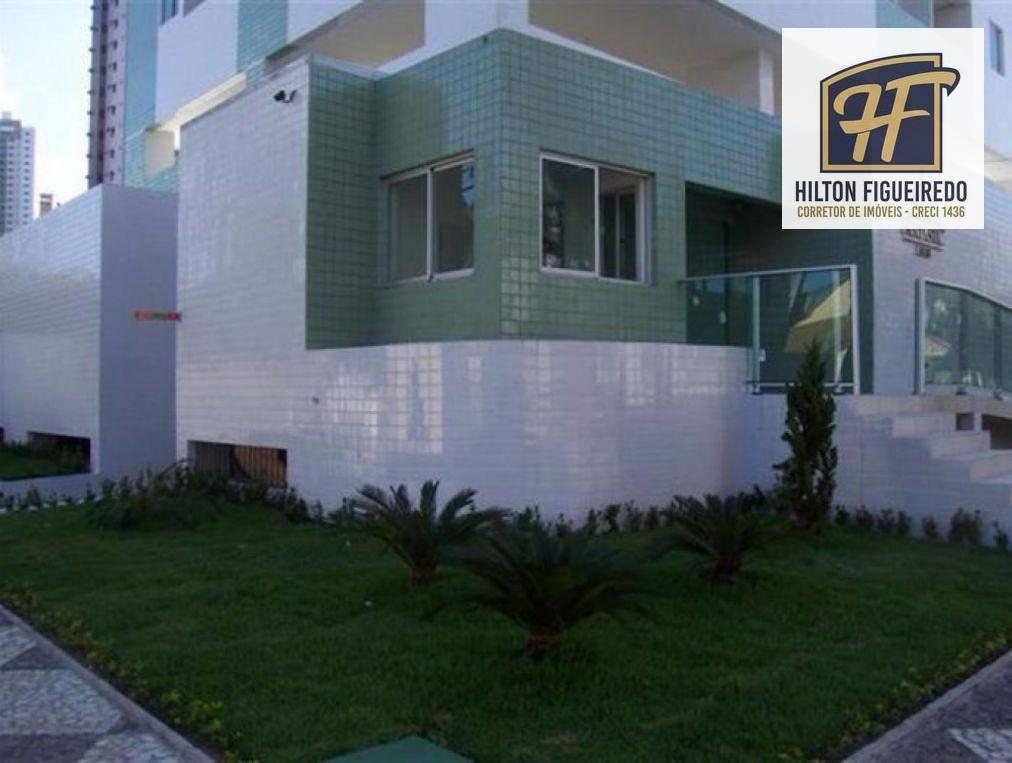 Apartamento com 2 dormitórios para alugar, 62 m² por R$ 1.500/mês - Manaíra - João Pessoa/PB