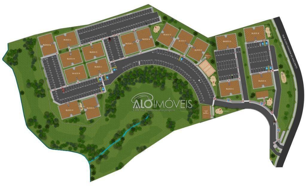 Apartamento na planta com 2 dormitórios à venda, 41 m² por R$ 128.000 - Tanguá - Almirante Tamandaré/PR