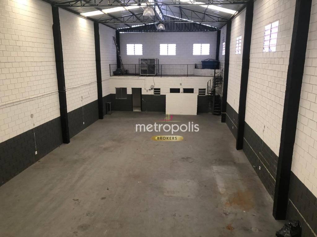 Galpão para alugar, 300 m² por R$ 7.500,00/mês - Osvaldo Cruz - São Caetano do Sul/SP