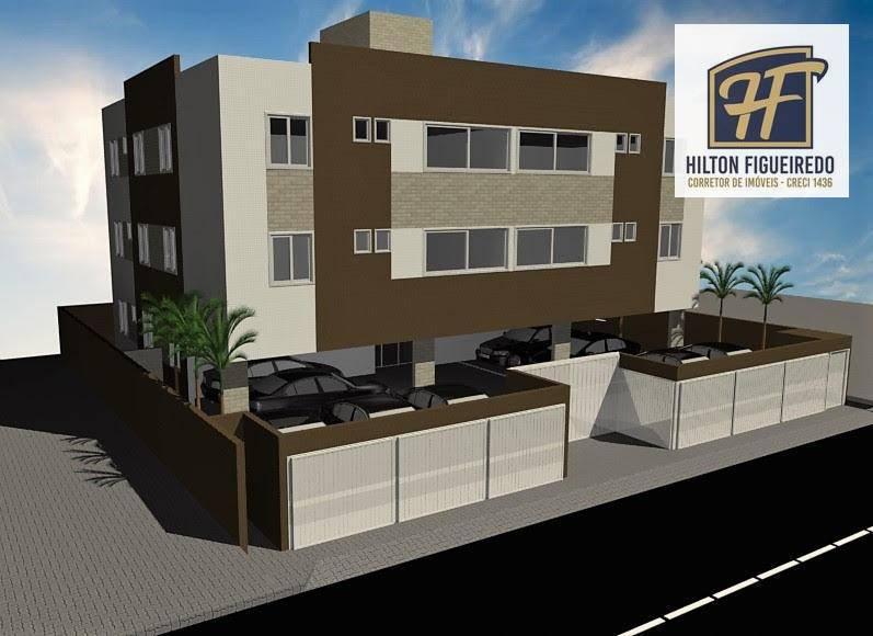 Apartamento com 2 dormitórios à venda, 47 m² por R$ 165.000 - Castelo Branco - João Pessoa/PB