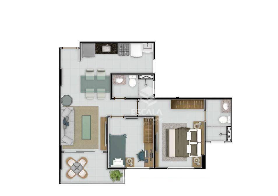 Apartamento à Venda - Presidente Kennedy