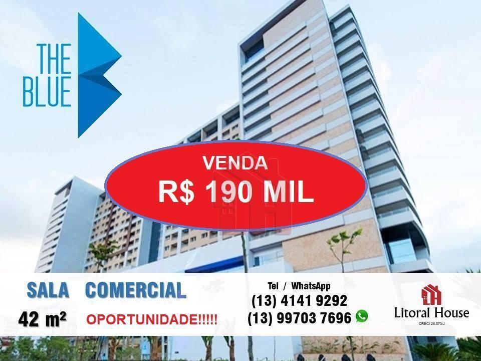 Sala comercial para venda e locação, Encruzilhada, Santos.
