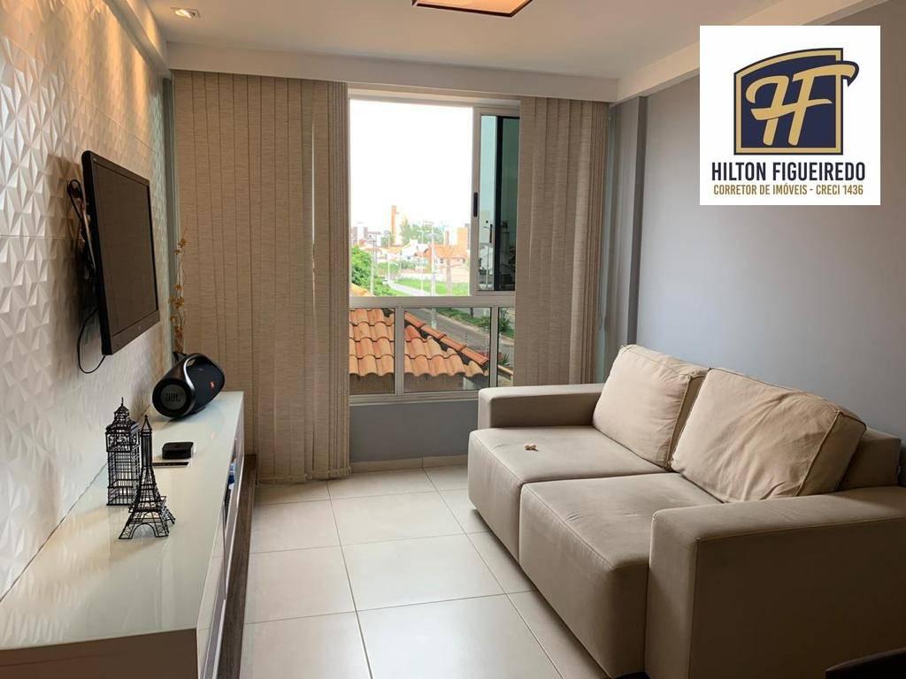 Flat com 1 dormitório à venda, 40 m² por R$ 225.000,00 - Intermares - Cabedelo/PB