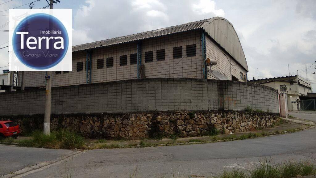 Galpão  comercial para venda e locação, Jardim Guerreiro, Granja Viana.