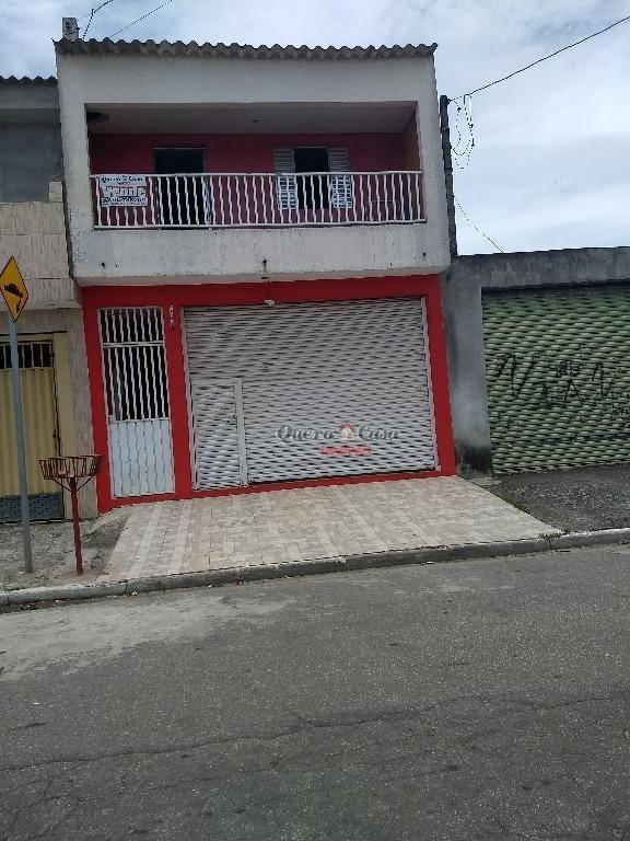 Sobrado residencial com salão à venda, Cidade Miguel Badra,