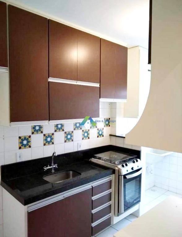Apartamento com 2 dormitórios à venda, 49 m² por R$ 210.000 - Jardim Volobueff (Nova Veneza) - Sumaré/SP