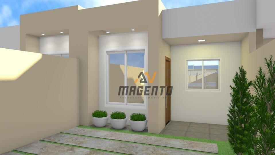 Casa com 2 dormitórios à venda, 58 m² - Florais do Parana - Cascavel/PR