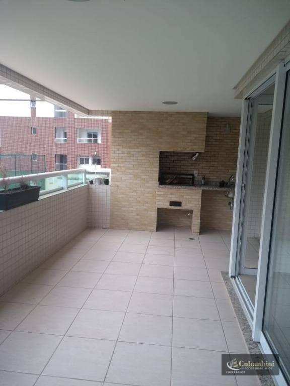 Apartamento com 3 dormitórios para alugar, 142 m² por R$ 3.500,00/mês - Centro - São Caetano do Sul/SP