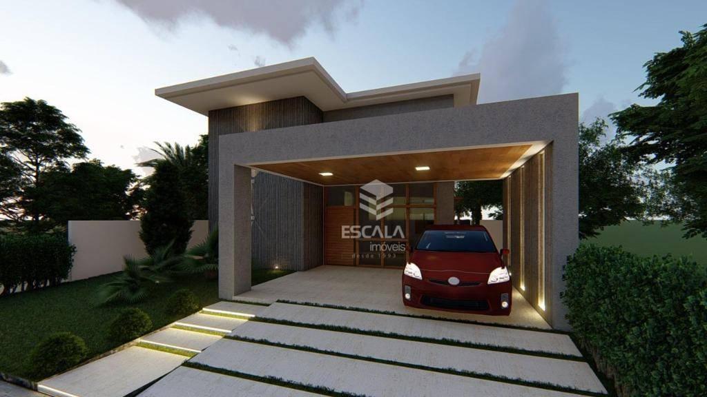 Casa com 4 quartos à venda, 267 m², área de lazer, condomínio fechado, financia  - Lagoa Redonda - Fortaleza/CE