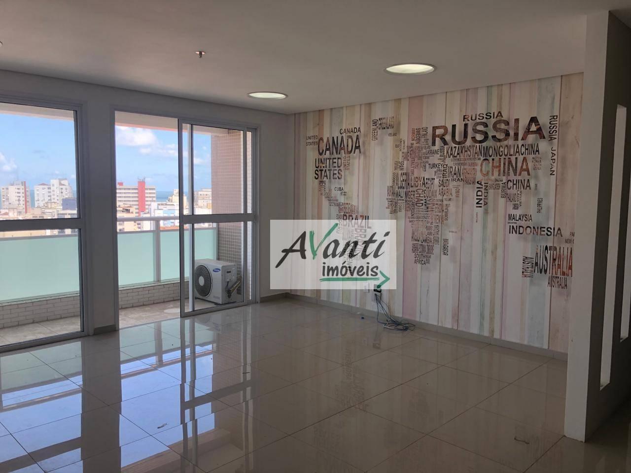 Sala comercial com vista para o mar para alugar, 44 m² por R$ 2.700/mês - Boqueirão - Santos/SP
