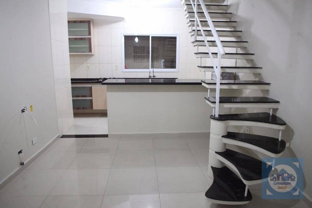 Casa com 2 dormitórios à venda, 71 m² por R$ 201.000 - Vila Nossa Senhora de Fátima - São Vicente/SP