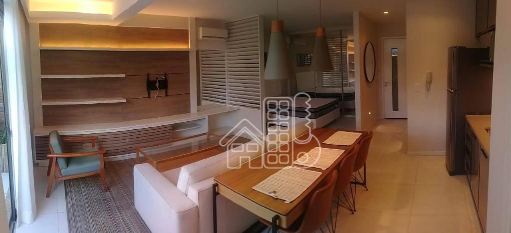 Loft com 1 dormitório para alugar, 55 m² por R$ 2.800,00/mês - São Francisco - Niterói/RJ