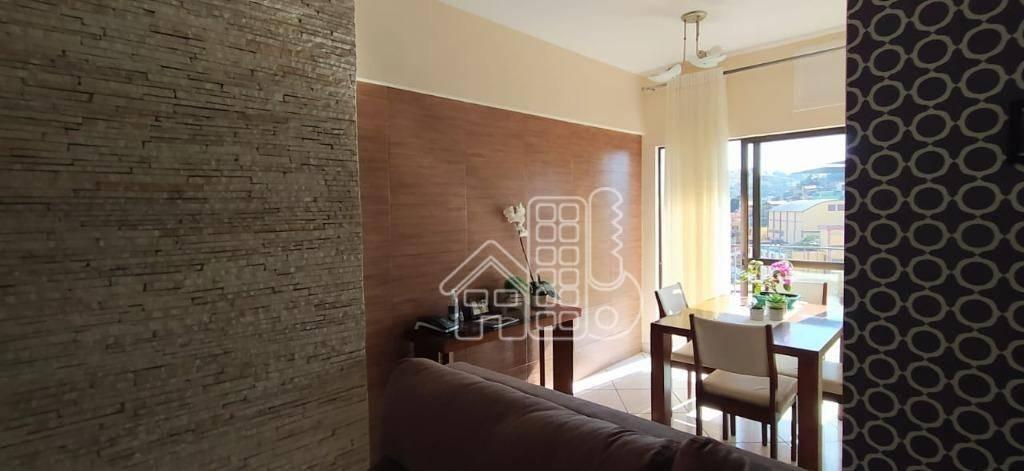 Apartamento com 2 dormitórios à venda, 55 m² por R$ 245.000,00 - Sete Pontes - São Gonçalo/RJ