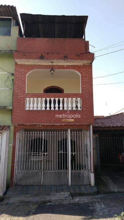 Sobrado com 2 dormitórios à venda, 71 m² por R$ 180.000,00 - Centreville - Santo André/SP