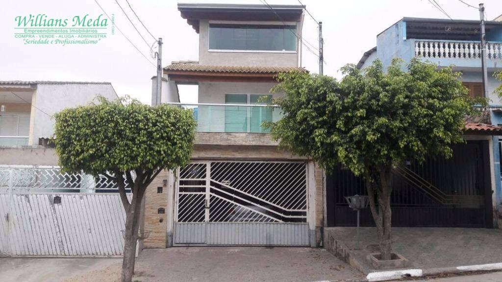 Sobrado com 3 dormitórios (1 suíte) à venda, 300 m² por R$ 550.000 - Parque Continental I - Guarulhos/SP