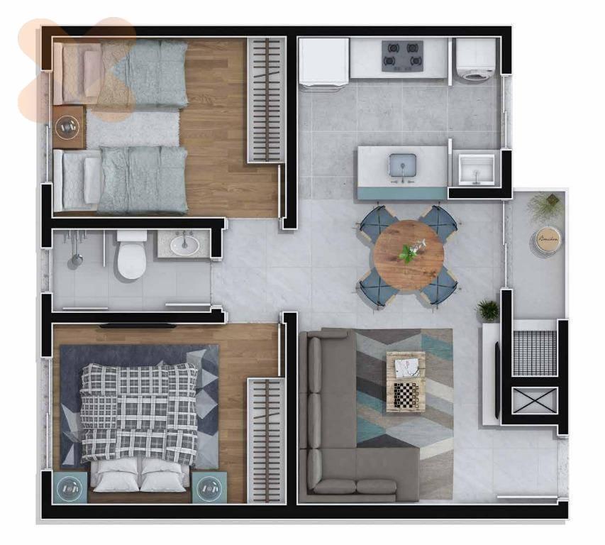 Apartamento residencial à venda, Bom Jesus, Campo Largo.