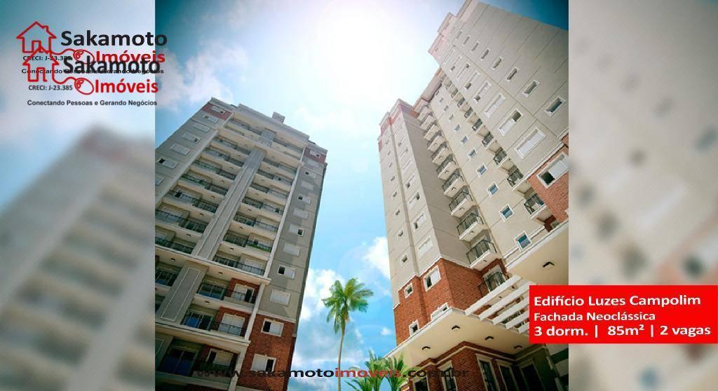 apartamento à venda no edifício luzes campolim em sorocaba!apartamento novo, recém entregue, com lazer completo, na...