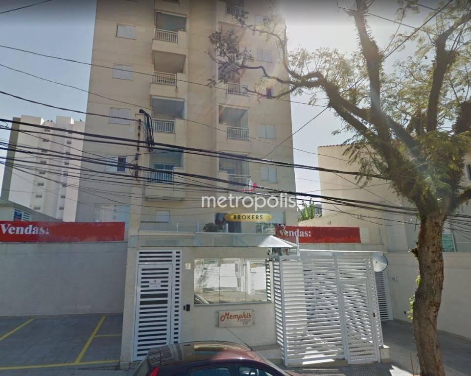 Apartamento com 2 dormitórios para alugar, 63 m² por R$ 1.590/mês - Campestre - Santo André/SP