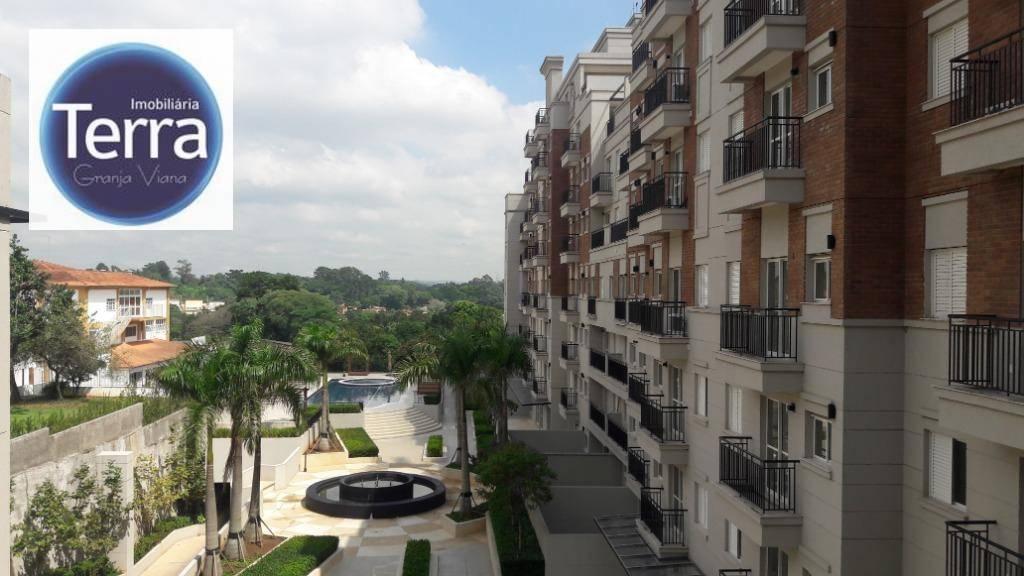 Apartamento com 1 dormitório para alugar, 77 m² por R$ 3.000/mês - Address Granja Viana - Granja Viana