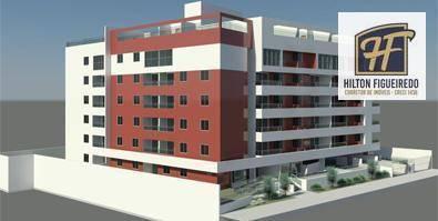 Apartamento com 2 dormitórios à venda, 6800 m² por R$ 320.000 - Cabo Branco a 50 metros do mar - João Pessoa/PB