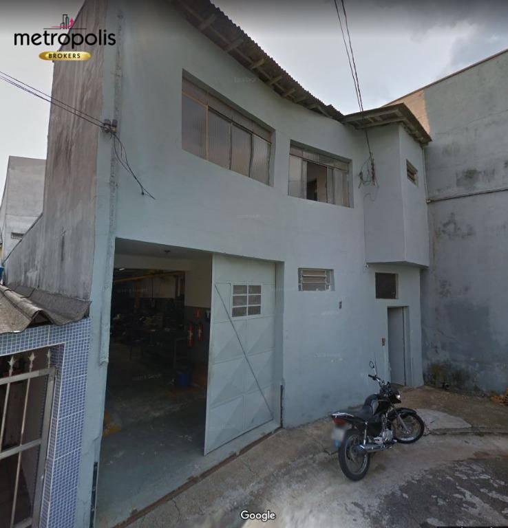 Galpão para locação, 182 m² por R$ 4.000,00 Santo Antônio - São Caetano do Sul/SP