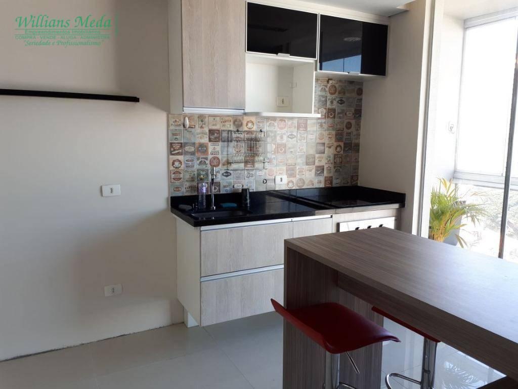 Studio residencial para locação, Vila Augusta, Guarulhos.