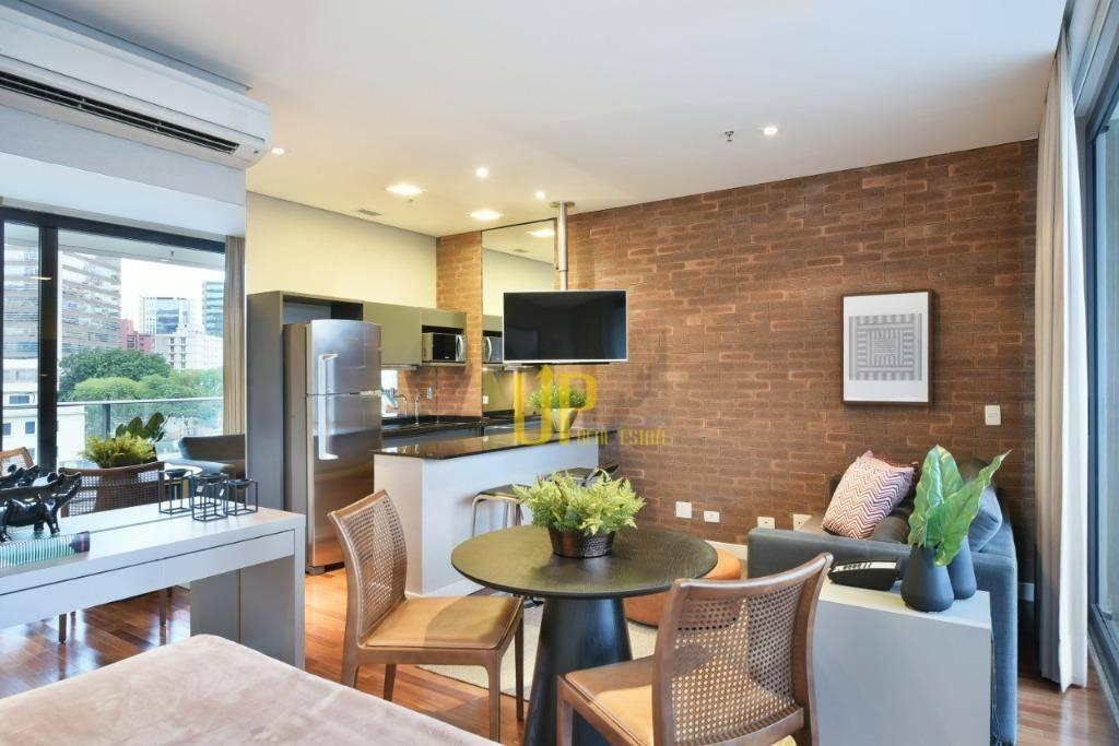 Apartamento com 1 dormitório para alugar, 42 m² por R$ 5.300/mês - Vila Olímpia - São Paulo/SP