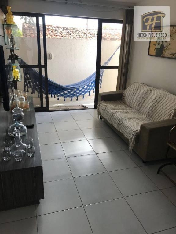 Alugo apto MOBILIADO térreo no Bessa 110 m², 3 quartos, sendo 2 suites, sla, wc, valanda em L, churrasc, perto de tudo R$ 2500 com cond.