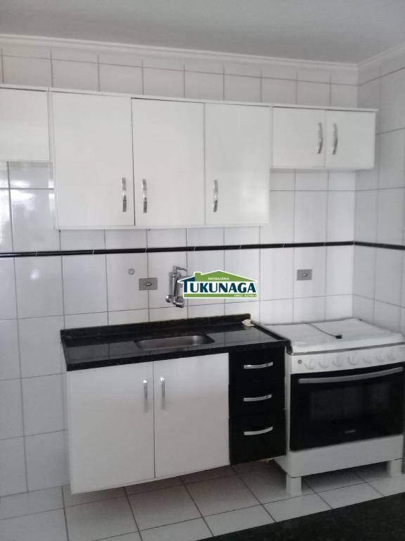 Apartamento com 3 dormitórios para alugar, 67 m² por R$ 1.100/mês - Picanco - Guarulhos/SP
