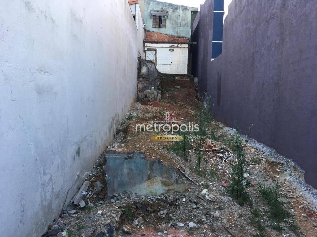 Terreno à venda, 150 m² por R$ 300.000 - Nova Gerty - São Caetano do Sul/SP
