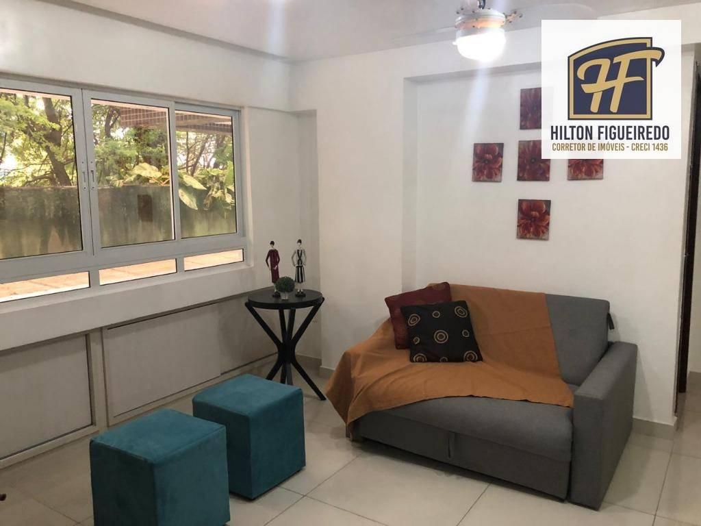 Flat com 1 dormitório para alugar, 50 m² por R$ 2.100/mês ou R$ 250,00/ Diaria- Tambaú - João Pessoa/PB