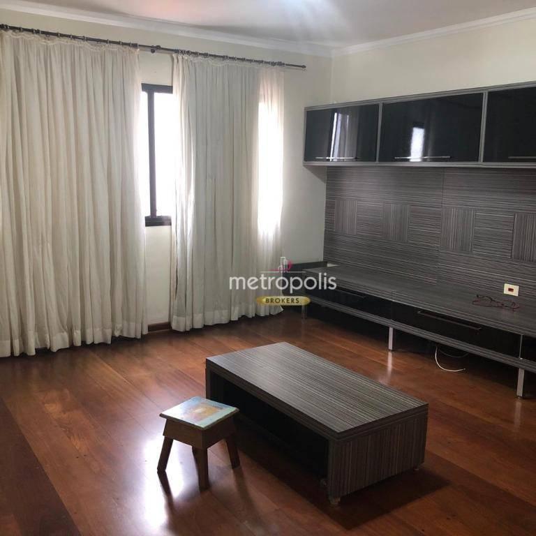 Apartamento com 3 dormitórios para alugar, 118 m² por R$ 1.600/mês - Santo Antônio - São Caetano do Sul/SP