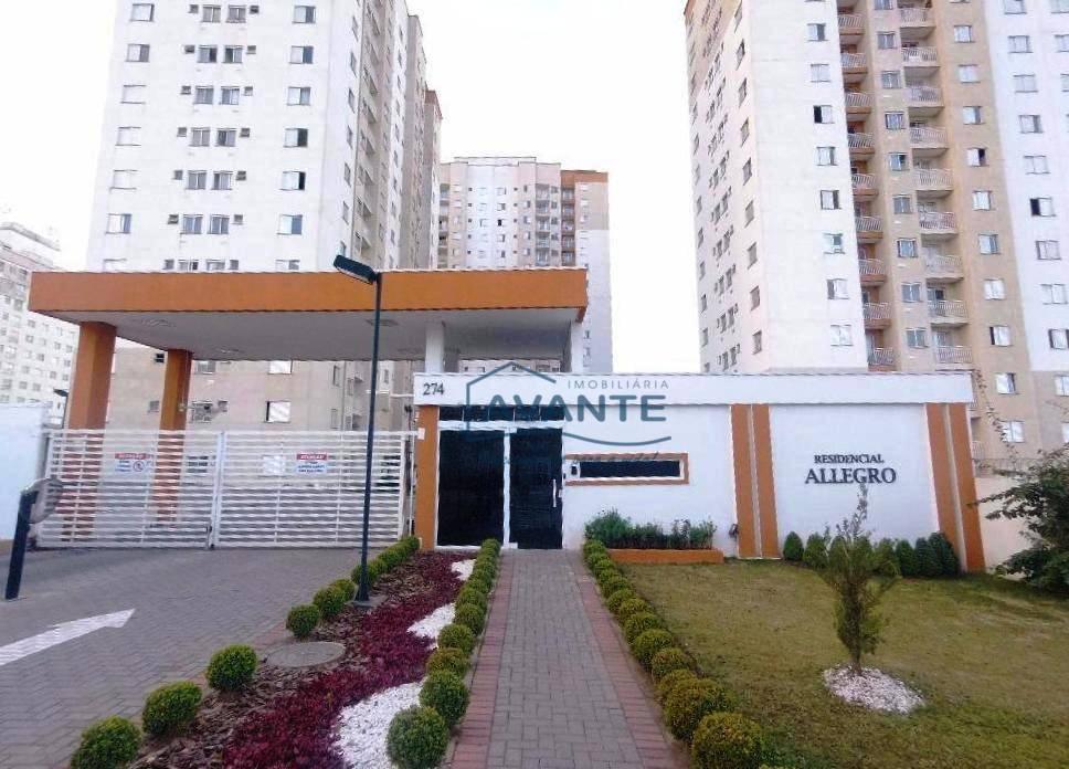 Apartamento no Pinheirinho - Res. Allegro, 2 Dormitórios, 1 Vaga - 50m²