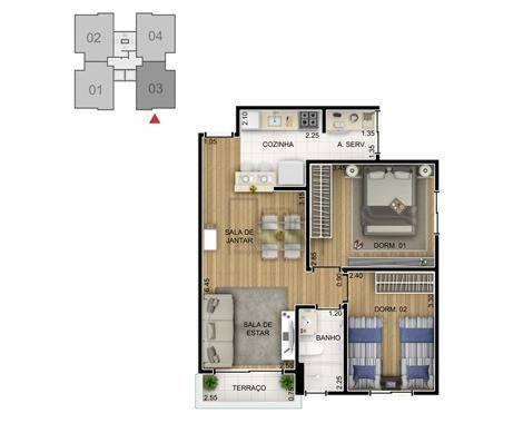 Apartamento com 2 Quartos,jardim santa fã©, Sorocaba