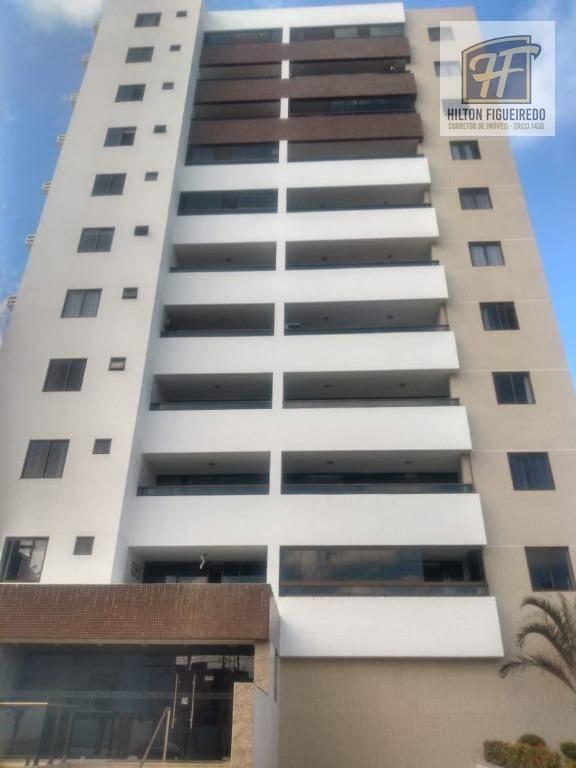 Apt com 3 qrt/2suites para alugar, 105 m² por R$ 2.000/ano - Bessa
