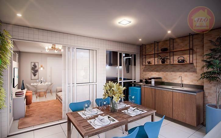Apartamento com 3 dormitórios à venda, 86 m² por R$ 647.473 - Vila Alzira - Guarujá/SP