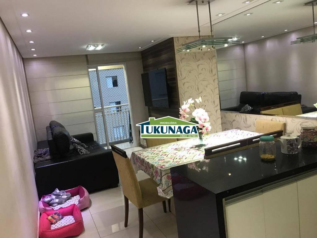 Apartamento para alugar, 70 m² por R$ 2.000,00/mês - Ponte Grande - Guarulhos/SP