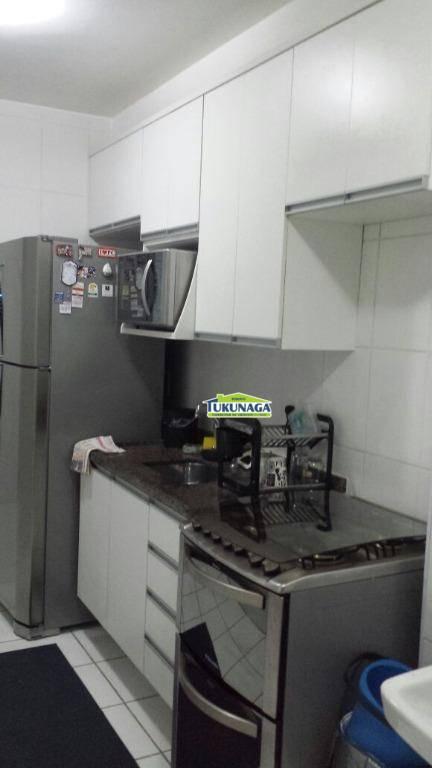 Apartamento com 2 dormitórios para alugar, 58 m² por R$ 1.550/mês - Jardim Flor da Montanha - Guarulhos/SP
