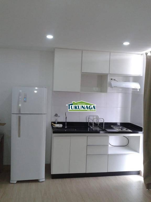 Studio com 1 dormitório para alugar, 36 m² por R$ 1.600/mês - Vila Augusta - Guarulhos/SP