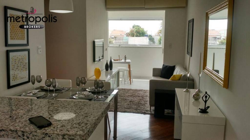 Apartamento para alugar, 60 m² por R$ 1.550,00/mês - Campestre - Santo André/SP