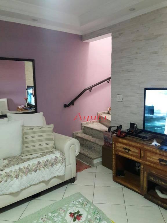 Sobrado com 2 dormitórios à venda, 110 m² por R$ 399.000 - Vila Alto de Santo André - Santo André/SP