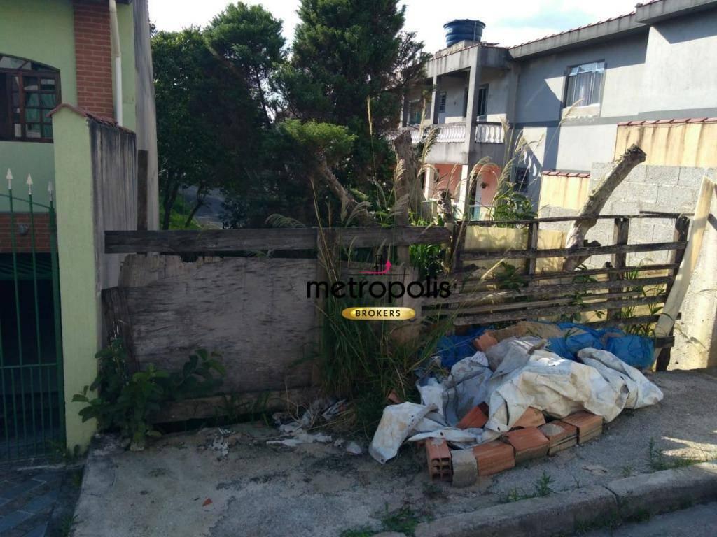 Terreno à venda, 260 m² por R$ 250.000 - Vila Camilópolis - Santo André/SP