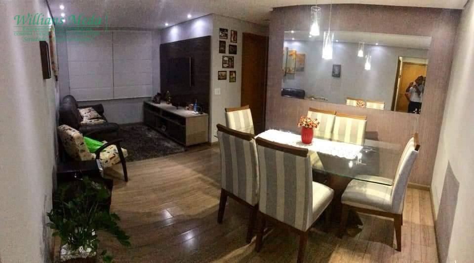 Apartamento com 2 dormitórios à venda, 62 m² por R$ 270.000 - Jardim Nova Taboão - Guarulhos/SP
