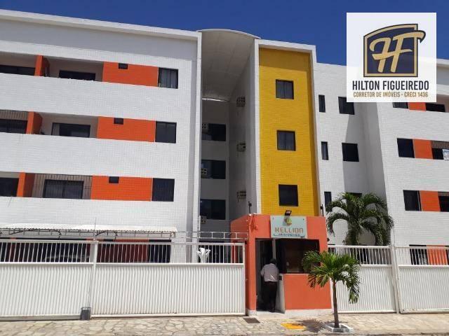 Apartamento com 2 dormitórios para alugar, 58 m² por R$ 900/ano - Jardim Cidade Universitária - João Pessoa/PB