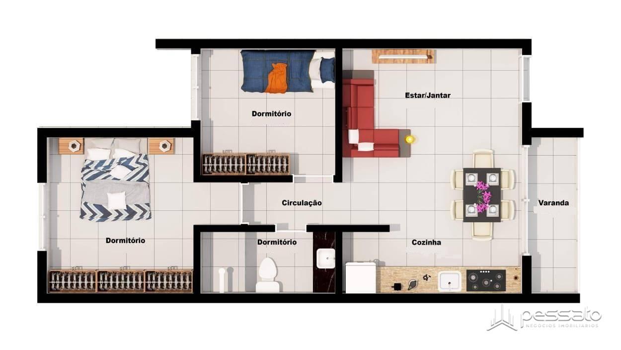 apartamento 2 dormitórios em Gravataí, no bairro Natal